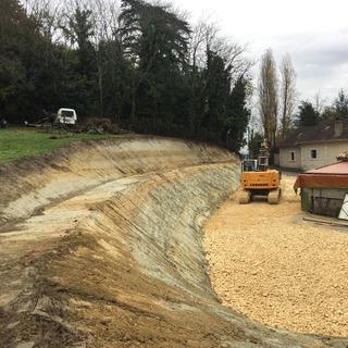 Terrassement pour niveler un terrain